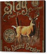 Stag Record Breaker Sign Canvas Print