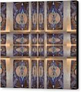 Stained Glass And Brass Canvas Print by Ricky Kendall