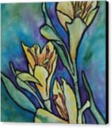 Stained Glass Flowers Canvas Print