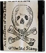 Stamp Act: Cartoon, 1765 Canvas Print
