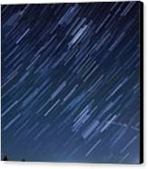 Star Trails Long Exposure At Night Canvas Print by Evan Sharboneau