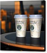 Starbucks At The Top Canvas Print by David Lee Thompson