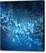 Stars And Bokeh Canvas Print by Setsiri Silapasuwanchai