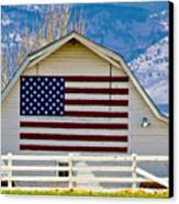 Stars Stripes And Barns Canvas Print