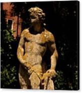 Statue In The Garden In Venice Canvas Print
