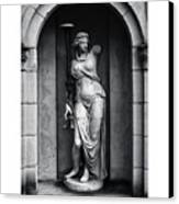 Statue Under Cover Canvas Print