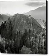 Stawamus Chief, Squamish, British Columbia, Canada, Tilt-shift Canvas Print by Brian Caissie