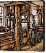 Steam Punk - The Press Canvas Print by Mike Savad
