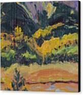 Steamboat Lake State Park Sand Mountain From Bridge Island Canvas Print by Zanobia Shalks