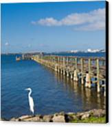 Steamboat Landing Ot Melbourne Beach In Florida  Canvas Print