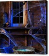 Steaming Cauldron In A Witch Cabin Canvas Print by Oleksiy Maksymenko