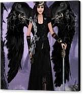 Steampunk Angel Canvas Print by Melodye Whitaker
