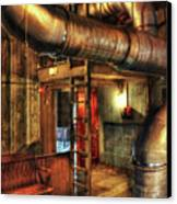 Steampunk - Where The Pipes Go Canvas Print