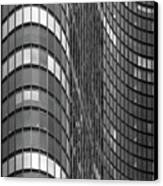 Steel And Glass Curtain Wall Canvas Print by Photo by John Crouch