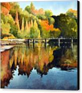 Stepping Stones Bolton Abbey Canvas Print