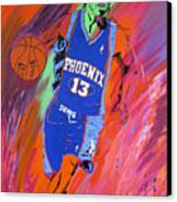 Steve Nash-vision Of Scoring Canvas Print by Bill Manson