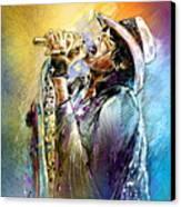 Steven Tyler 01  Aerosmith Canvas Print