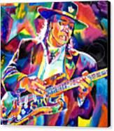 Stevie Ray Vaughan Canvas Print by David Lloyd Glover