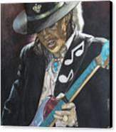 Stevie Ray Vaughan  Canvas Print by Lance Gebhardt