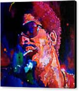 Stevie Wonder Canvas Print by David Lloyd Glover