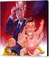 Stewart And Colbert Canvas Print by Ken Meyer jr