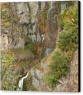 Stewart Falls In Autumn Canvas Print