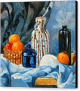 Still Life With Jugs And Oranges Canvas Print