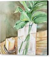Still Life With Leaf Canvas Print