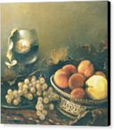 Still-life With Peaches Canvas Print by Tigran Ghulyan