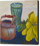 Still Life With Plastic Flower Canvas Print