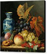Still Life With Rasberries Canvas Print by Edward Ladell