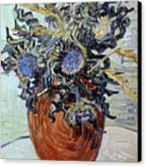 Still Life With Thistles Canvas Print by Vincent van Gogh