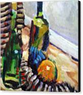 Still Life With Wine Bottles Canvas Print by Piotr Antonow