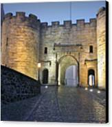 Stirling Castle Scotland In A Misty Night Canvas Print