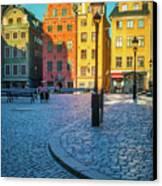 Stockholm Stortorget Square Canvas Print by Inge Johnsson