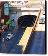 Stockton Street Tunnel In Heavy Shadow . Long Version Canvas Print