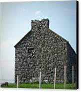 Stone Building Maam Ireland Canvas Print