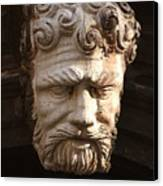 Stone Head In Venice Canvas Print