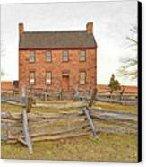 Stone House / Manassas National Battlefield / Winter Morning Canvas Print by Digital Photographic Arts