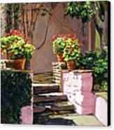 Stone Patio California Canvas Print