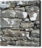 Stone Wall Detail Doolin Ireland Canvas Print