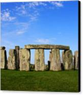 Stonehenge On A Clear Blue Day Canvas Print by Kamil Swiatek