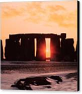 Stonehenge Winter Solstice Canvas Print by English School