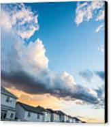 Storm Clouds In The Sunset Canvas Print by Adnan Bhatti