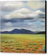 Storm Over Desert Canvas Print by Max Mckenzie