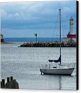 Storm Over Mackinac Canvas Print