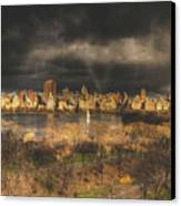 Storm Over The Park Canvas Print