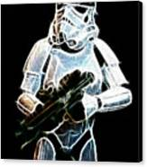 Storm Trooper Canvas Print by Paul Ward