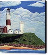 Stormy Montauk Point Lighthouse Canvas Print