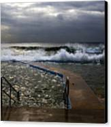 Stormy Morning At Collaroy Canvas Print